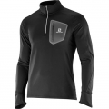 SALOMON TRAIL RUNNER WARM LS ZIP BLACK/GREY