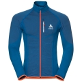 BLUZA ODLO MIDLAYER FULL ZIP VELOCITY Blue