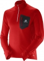 SALOMON TRAIL RUNNER WARM LS ZIP RED
