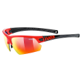 UVEX Sportstyle 224 Red Black/Mirror Red S3