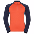BLUZA ODLO MIDLAYER ½ ZIP PACT Orange