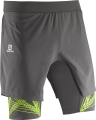 SPODENKI SALOMON INTENSITY TW SHORT M Galet Grey
