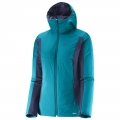 BLUZA SALOMON DRIFTER MID HOODIE W Kouak Blue/Nightsha