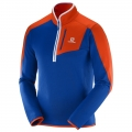 BLUZA SALOMON ATLANTIS HZ M Blue/Orange 2017