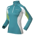 ODLO STAND-UP COLLAR 1/2 ZIP SIMPLON GREEN