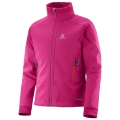 SALOMON MOMEMTUM SOFTSHELL JKT JR Pink