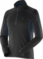 BLUZA SALOMON DISCOVERY HZ TP MIDLAYER M Black
