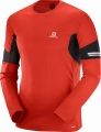 KOSZULKA SALOMON AGILE LS TEE M Fiery Red