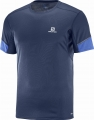 KOSZULKA SALOMON AGILE SS TEE M Dress Blue