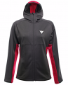 BLUZA DAINESE HP2 MID HOODED FULL ZIP LADY Black/Virtual Pink