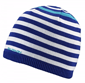 Czapka Salomon Stripe Beanie White/Blue
