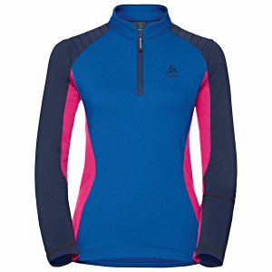Bluza ODLO PACT MIDLAYER 1/2 ZIP Blue/Pink