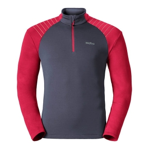 Bluza ODLO Pact Midlayer 1/2 ZIP Ombre Blue/Red