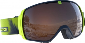 Gogle Salomon XT One Acid Lime Solar Orange
