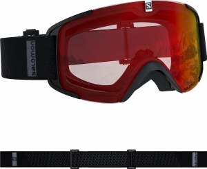 Gogle Salomon Xview Black/Uni Mid Red 408444