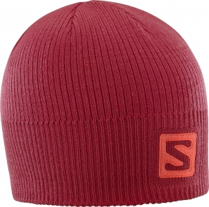 Czapka Salomon LOGO Beanie Biking Red 402847