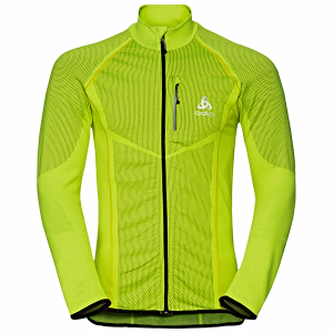 Bluza ODLO Midlayer Full ZIP Velocity Yellow