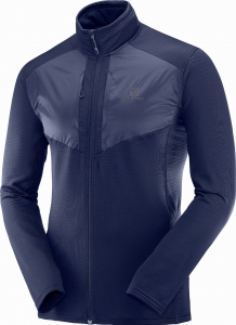 Bluza Salomon Grid FZ Mid M Night Sky