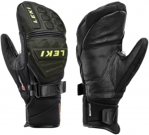 Rękawice LEKI Race Coach C-TECH S Mitten Black/Lemon 2020