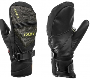 Rękawice LEKI Race Coach C-TECH S Junior  Mitten Black/Lemon 2020
