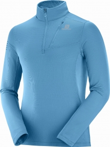 Bluza Salomon Grid HZ Mid M Fjord Blue