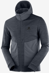 Bluza Salomon Outline Mid JKT M Ebony/Heather