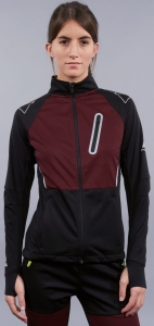 Kurtka Fischer Softshell Jacket Women ASARNA Black/Burgundy