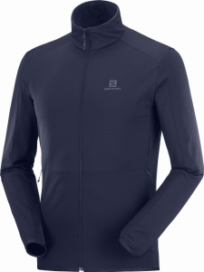 Bluza Salomon OUTRACK FULL ZIP Midlayer M Night Sky