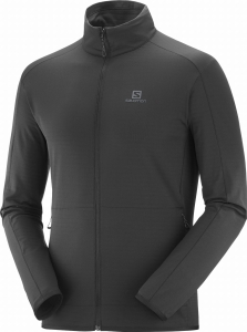 Bluza Salomon OUTRACK FULL ZIP Midlayer M Black