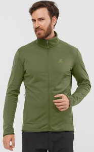 Bluza Salomon OUTRACK FULL ZIP Midlayer M Olive Night