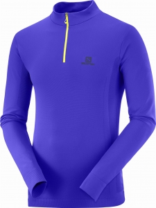 Bluza Salomon ESSENTIAL SEAMLESS HZ M Clematis Blue