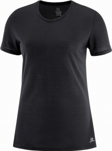 Koszulka Salomon COMET SHORT Sleeve Tee W Black/Heather