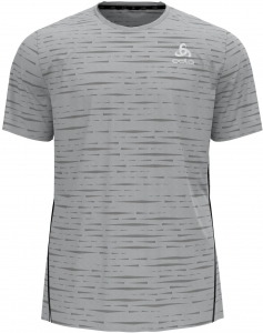 Koszulka tech. Męska Odlo T-shirt s/s Crew Neck ZEROWEIGHT Enginee Grey