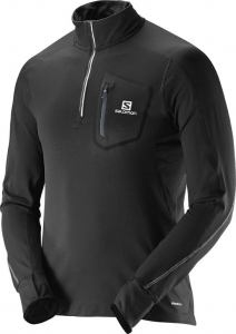 Salomon Trail Runner Warm LS Zip Black