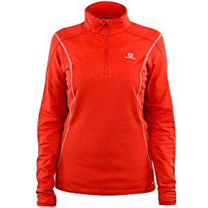 Bluza Salomon Discovery HZ Midlayer W Red