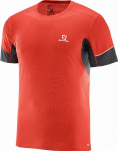 Koszulka SALOMON Agile SS TEE M Fiery Red