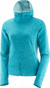 Bluza Salomon Right Nice MID Hoodie W Enamel Blue