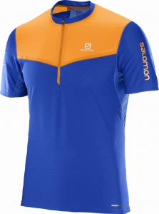 Koszulka Salomon Fast Wing HZ SS TEE M Blue
