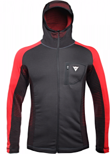Bluza Dainese Awa Mid Hooded Full Zip Man Stretch Limo/High Risk