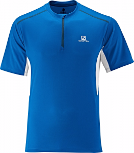 Koszulka SALOMON Start ZIP TEE M Union Blue