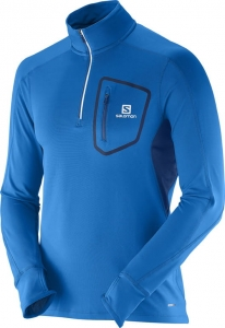 SalomonTrail Runner Warm LS Zip Blue