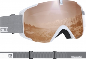Gogle Salomon Xview Acces White/Uni T.Orange