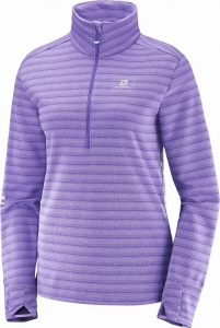 Bluza Salomon Lightning HZ MID W Purple