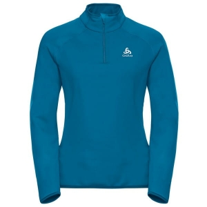 Bluza Odlo Midlayer Carve Warm 1/2 zip Blue