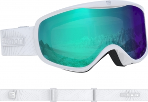 Gogle Salomon Sense Photo White All Weather Blue