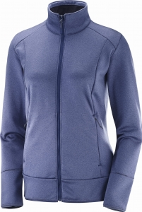 Bluza Salomon Discovery FZ W Crown Blue Heather