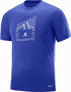 Koszulka Salomon Explore Graphic SS Tee M Blue