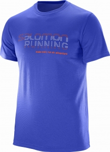 Koszulka SALOMON Running Graphic TEE M Blue