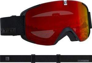 Gogle Salomon Xview Black/Uni. Mid Red