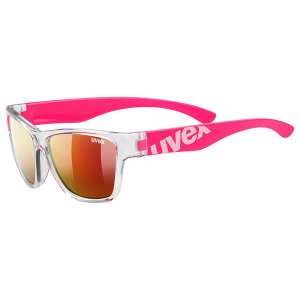 OKULARY UVEX Sportstyle 508 Clear Pink/Mirror Red S3